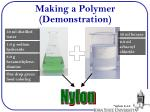 making a polymer demonstration