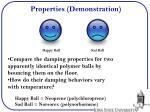 properties demonstration