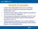 assists examples
