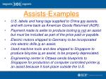 assists examples1