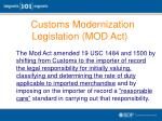 customs modernization legislation mod act