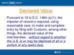 declared value