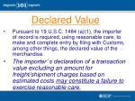 declared value1