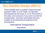 non dutiable charges ndc s