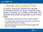 royalty and license fees