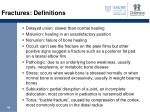 fractures definitions1
