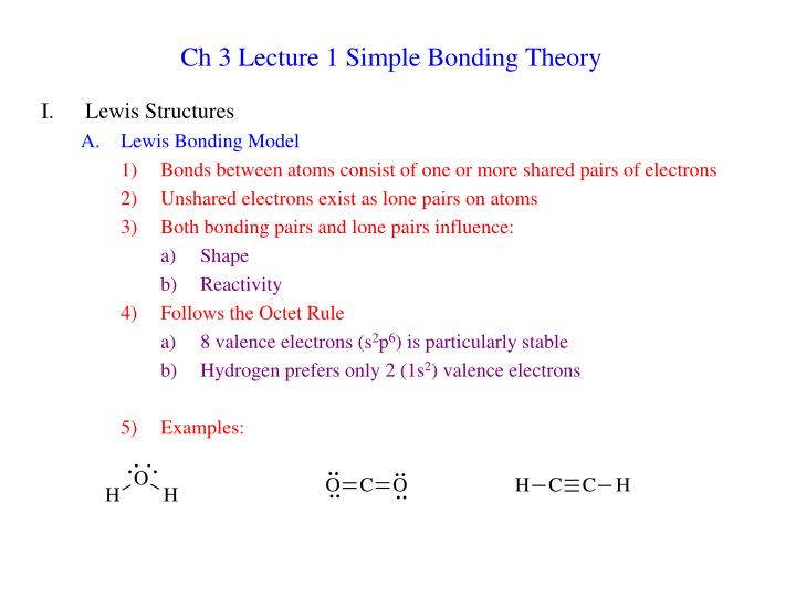 ch 3 lecture 1 simple bonding theory n.