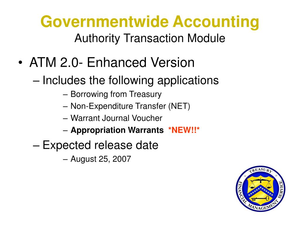 Governmentwide Accounting