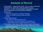 analysis of record1