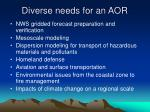 diverse needs for an aor