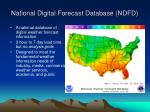national digital forecast database ndfd