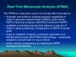 real time mesoscale analysis rtma
