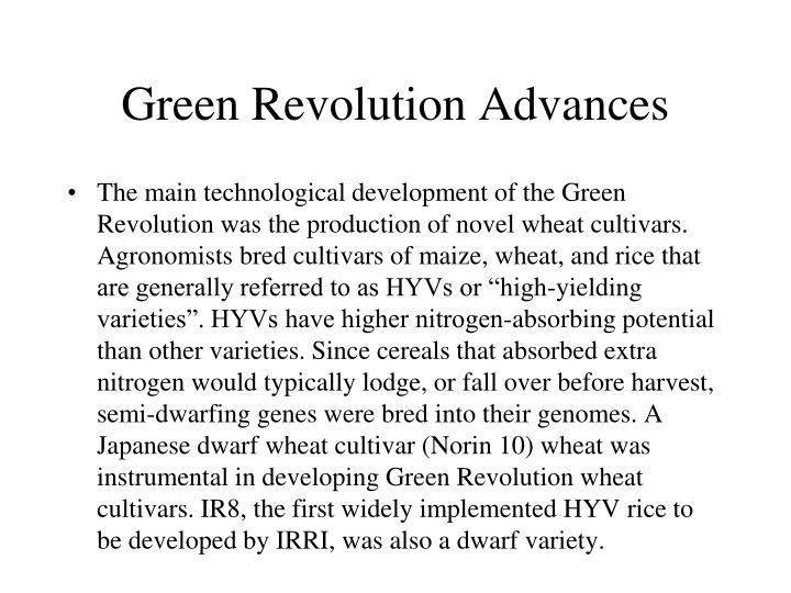 Green Revolution Advances