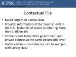 contextual file