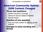 american community survey 2008 content changes