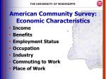 american community survey economic characteristics