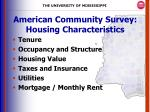 american community survey housing characteristics