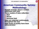 american community survey methodology