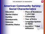 american community survey social characteristics