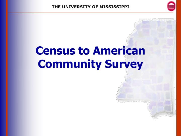 census to american community survey n.