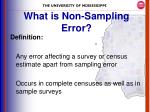 what is non sampling error