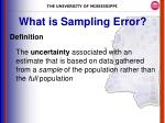 what is sampling error