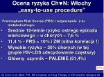 ocena ryzyka ch n w ochy easy to use procedure
