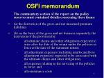 osfi memorandum