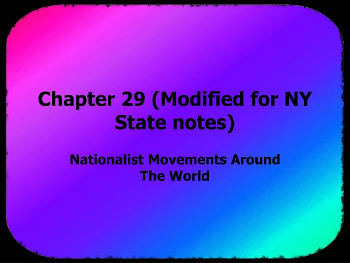 chapter 29 modified for ny state notes n.