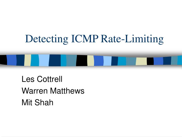 detecting icmp rate limiting n.