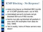 icmp blocking no response