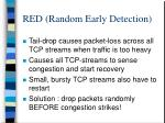 red random early detection