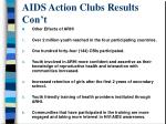 aids action clubs results con t