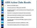 aids action clubs results
