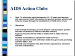 aids action clubs
