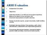 arhi evaluation