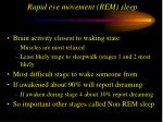 rapid eye movement rem sleep