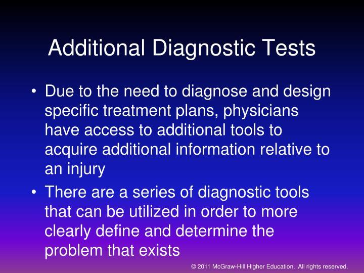 Additional Diagnostic Tests