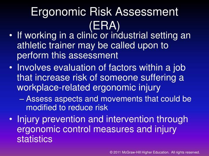 Ergonomic Risk Assessment (ERA)