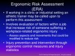 ergonomic risk assessment era