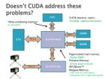 doesn t cuda address these problems