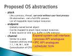 proposed os abstractions