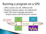 running a program on a gpu