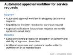 automated approval workflow for service requests
