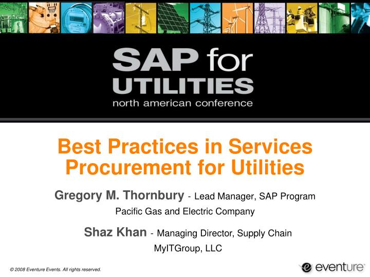 best practices in services procurement for utilities n.