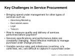 key challenges in service procurement