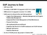 sap journey to date