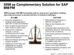srm as complementary solution for sap mm pm