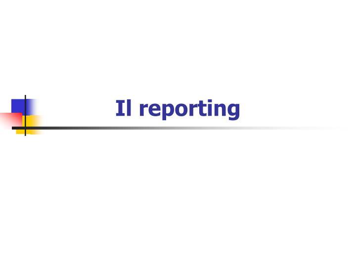 il reporting n.