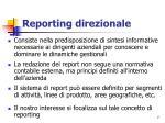 reporting direzionale